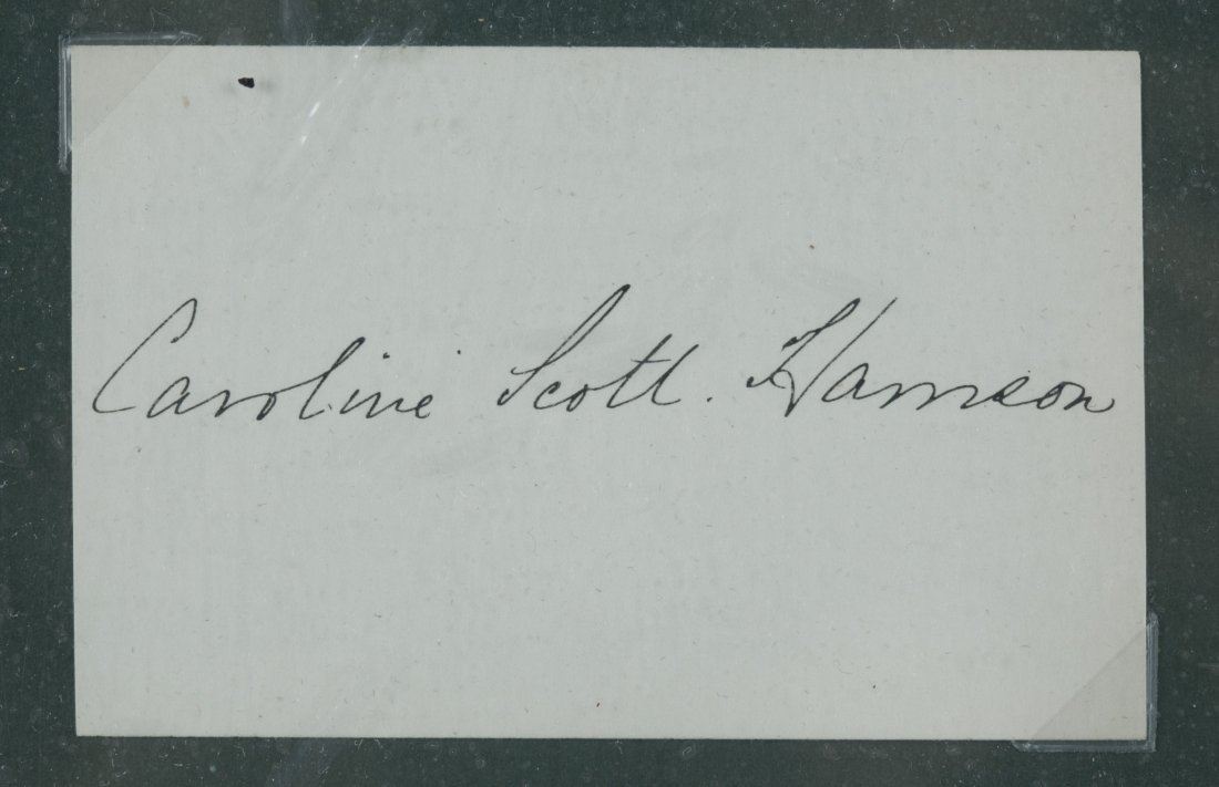Caroline Scott Harrison Signature Card