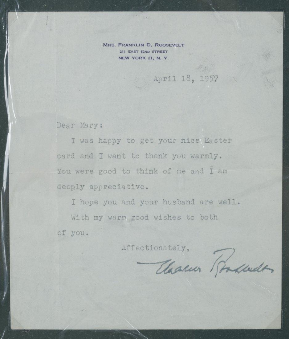 Eleanor Roosevelt Letter
