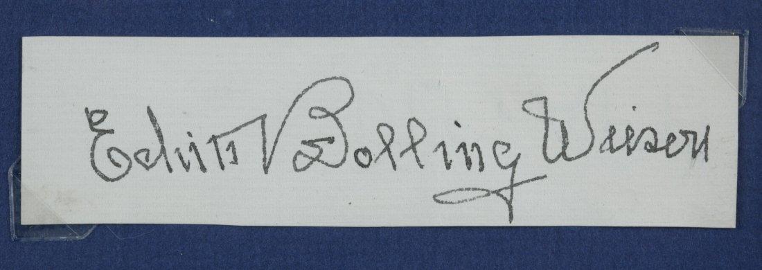 Edith Bolling Wilson Signature