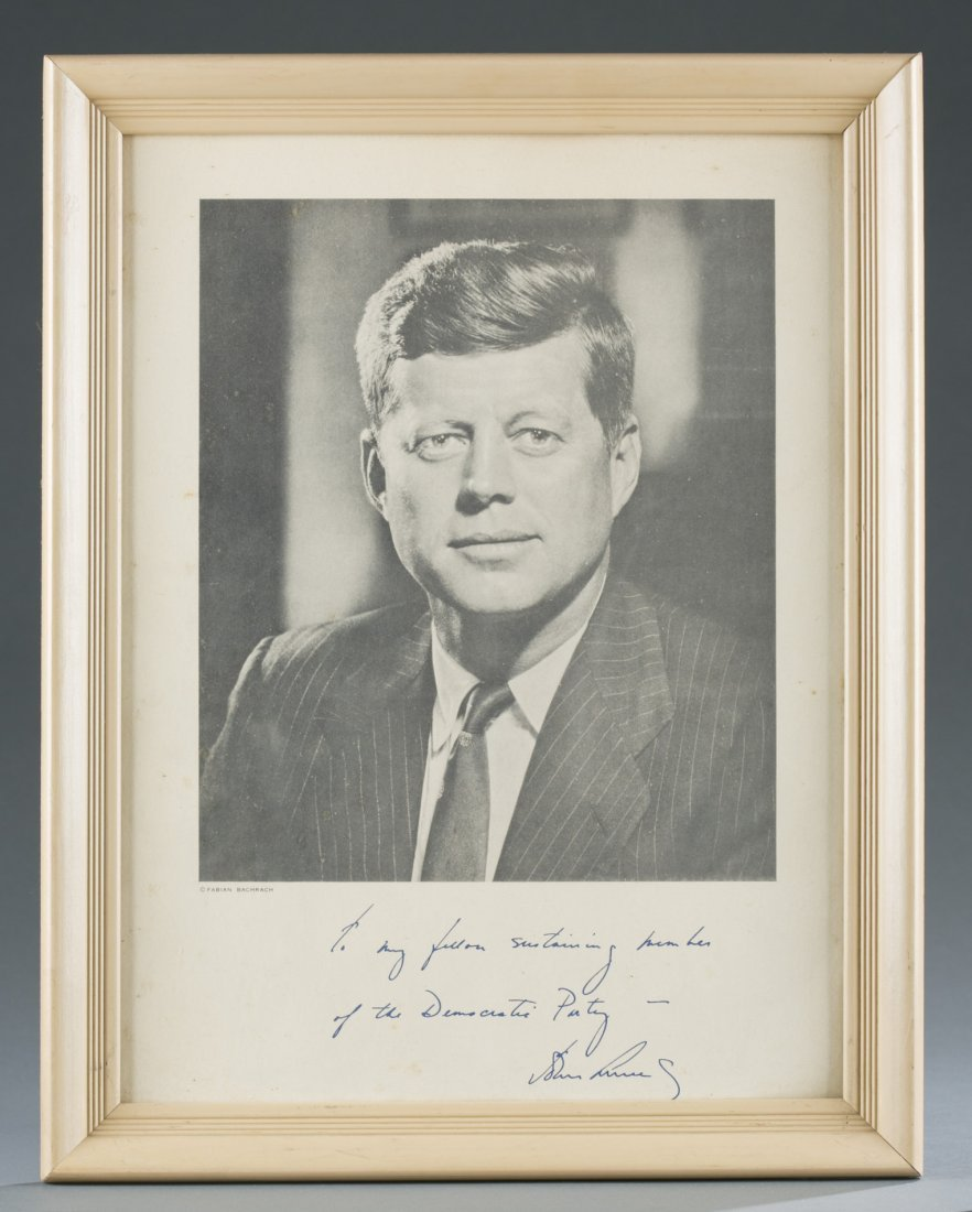 John F. Kennedy Picture and Signature