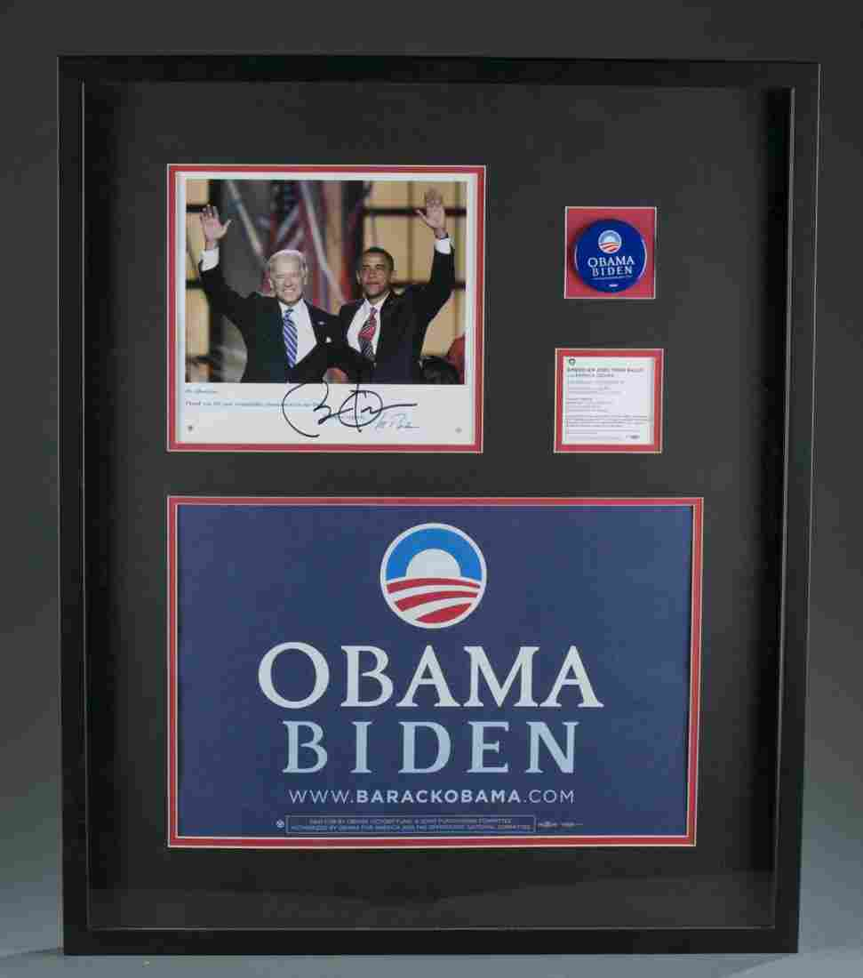 Collection of Barack Obama and Joe Biden Campaign Items