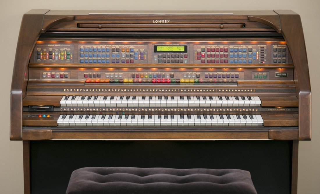 Lowrey Organ, Serenade Model X410 in Walnut Finish with - 3