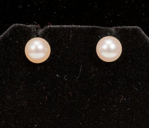 Pair of Cultured Pearl Earrings