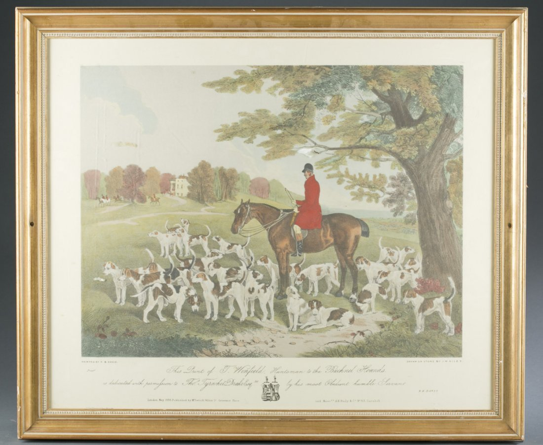 T. Winfield, Huntsman of the Buchnel Hounds Print