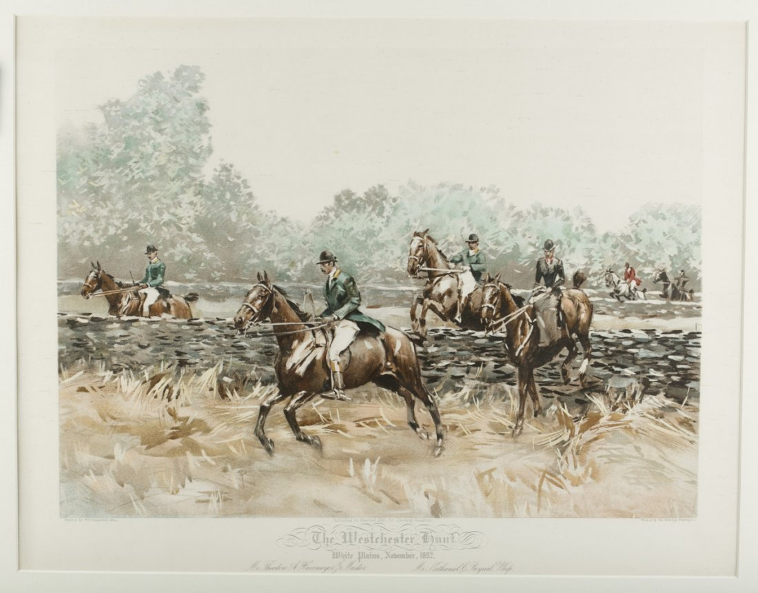 "Hunt Print "" The Westchester Hunt"""