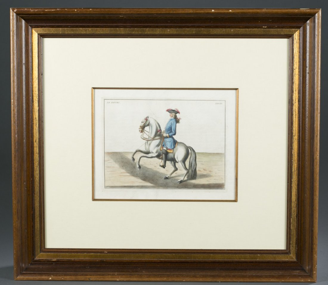 "Two (2) Framed Hand Colored Engravings ""Le Philosophe"""
