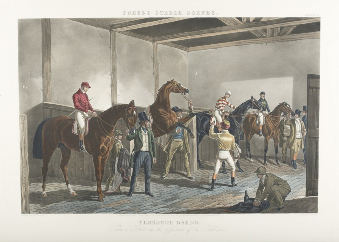 "Pair of Horse Prints ""Flores's Stable Scenes"""