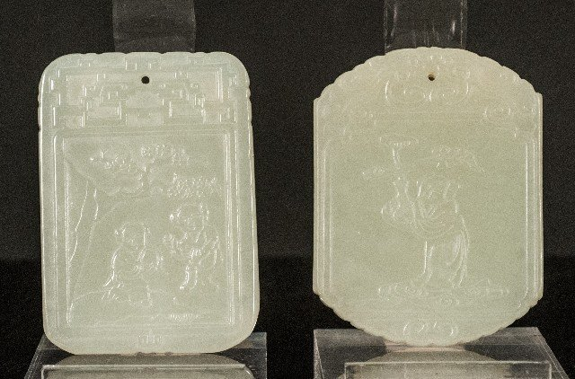 Two (2) Carved Jade Pendants
