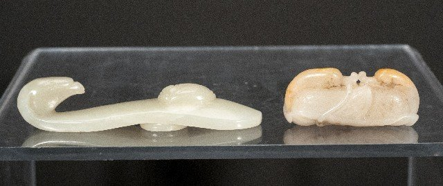 Two (2) Pieces of Carved Jade