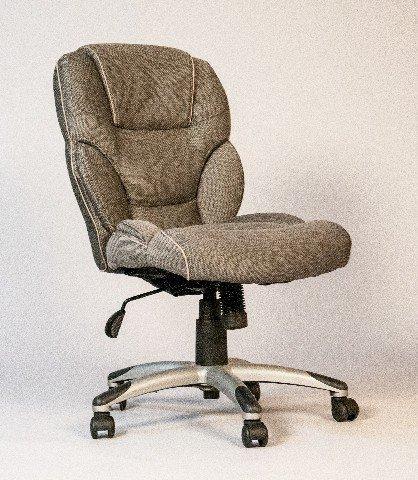 grey armless office chair