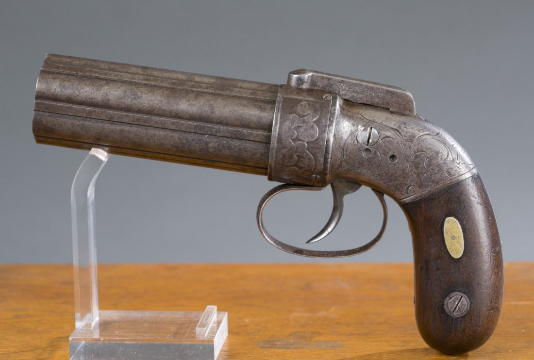"""Circa 1840 Allen & Thurber Cast Steel """"Pepperbox"""""""