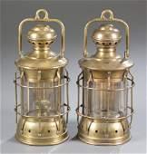 Pair of Nautical Anchor Lanterns