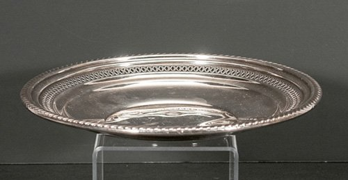 Sterling Reticulated Plate