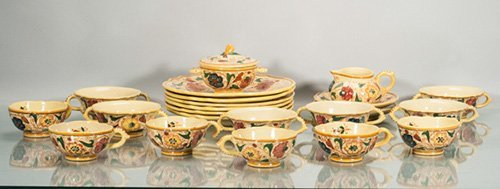 Collection of Ceramic Lorenzo F.B. Italy Luncheon Set
