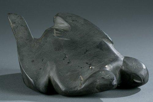 """Gideon Qauqjuaq, Sculptor, """"Seal Spirit"""", 3 1/2"""" H x 8"""""""