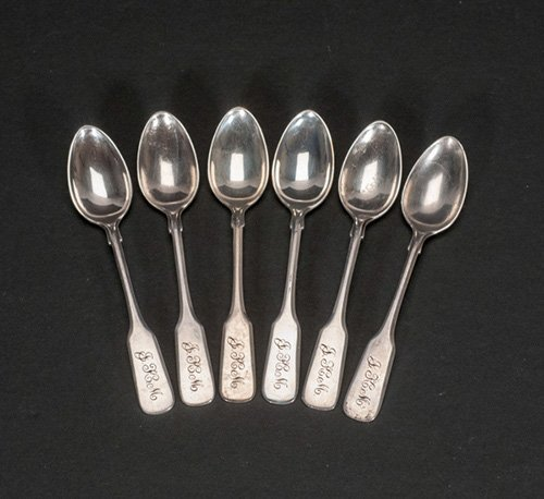 Six (6) Sterling Matching Tea Spoons