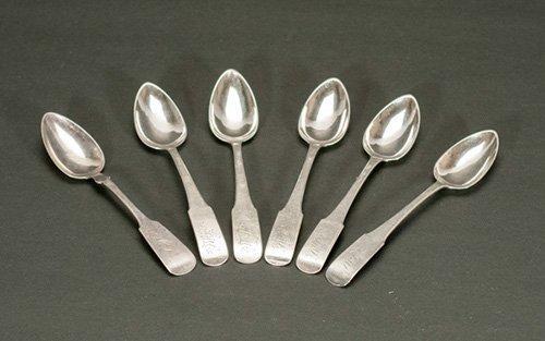 Six (6) Sterling Monogrammed Spoons