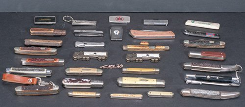Collection of Thirty Two (32) Pocket Knives