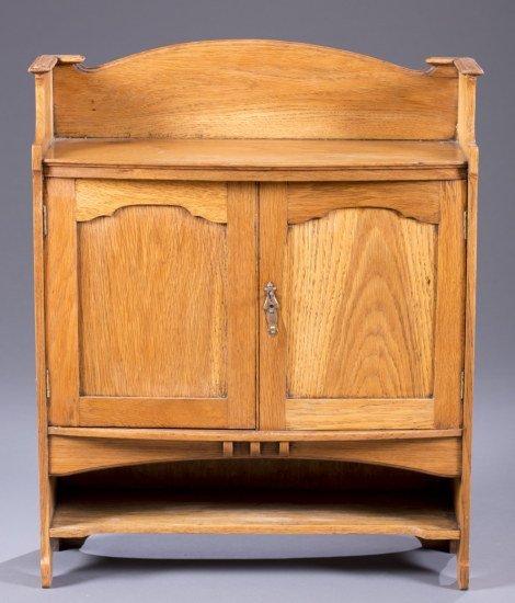 Ca. 1900 Oak Hanging Cupboard