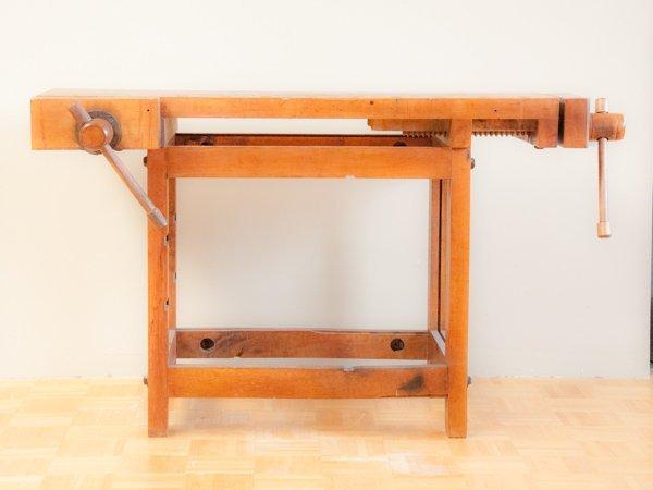19th Century Maple Carpenter's Bench