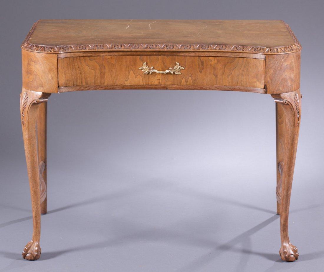 Victorian Walnut Console Table