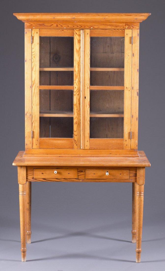 Late 19th Century Yellow Pine Country Sheraton Desk