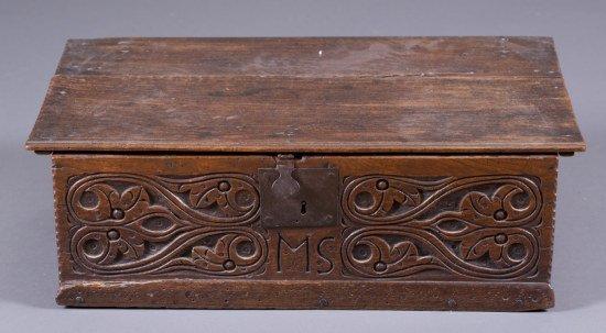 Early 19th Century English Oak Bible Box