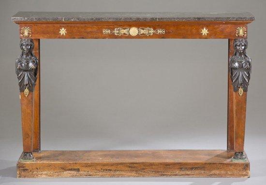 French Empire Mahogany Console, Ca. 1800