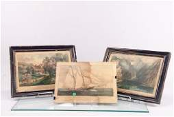 Three 3 Currier  Ives Lithographs