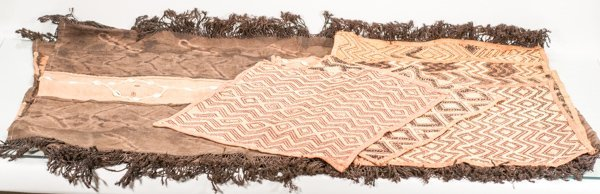 Hand Woven African Tablecloth Decorated with Shells and