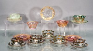 Collection of Hand Painted Glass Finger Bowls and