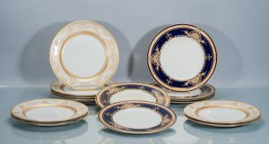 Collection of English and Limoges Porcelain Dinner