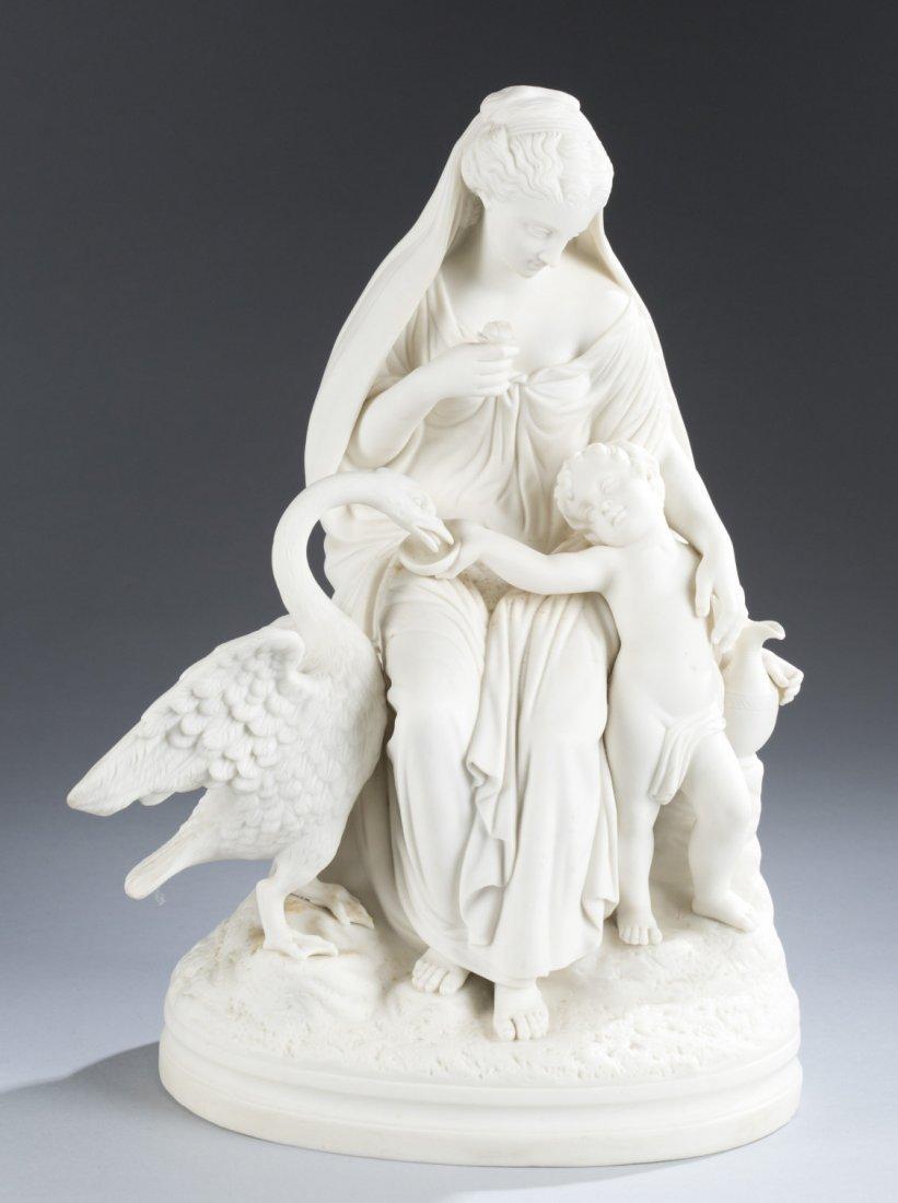 19th Century Parian Ware Porcelain Figural Group