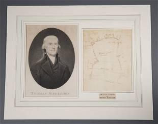 Important Land Survey or Plat by Thomas Jefferson