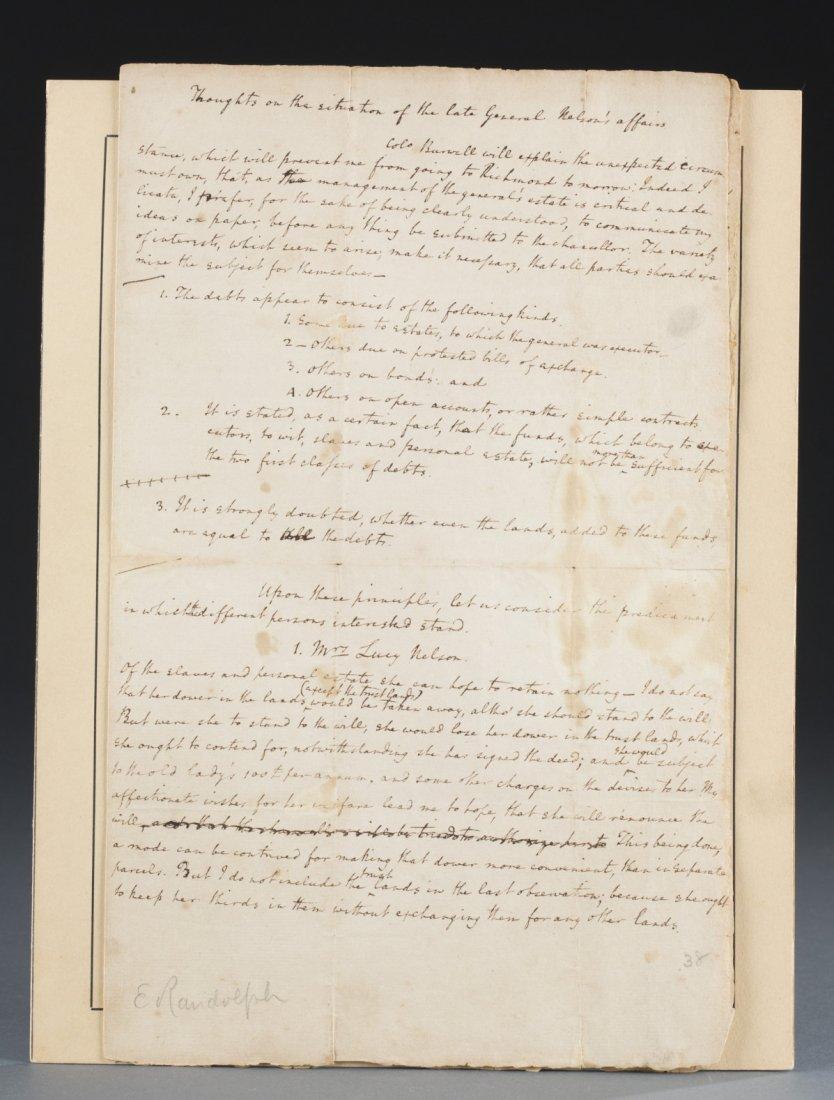 Edmund Jennings Randolph Four Page Folio, 1789,