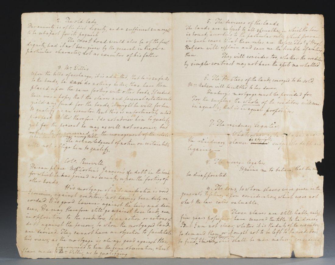 Edmund Jennings Randolph Four Page Folio, 1789, - 4