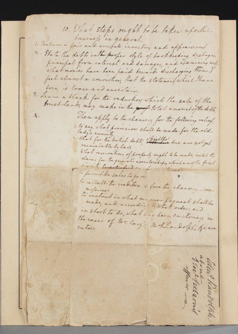 Edmund Jennings Randolph Four Page Folio, 1789, - 5