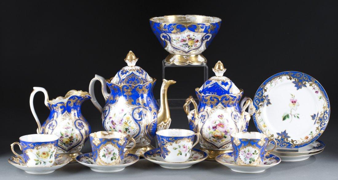 19th Century English Porcelain Partial Tea Set