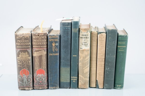 Railroads, 10 Vols. Largely 1885 - 1950. Sold with all