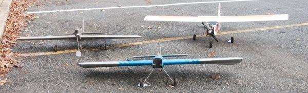 "Three Model Airplanes Avistar, ""Fox Power"" and ""Ding"