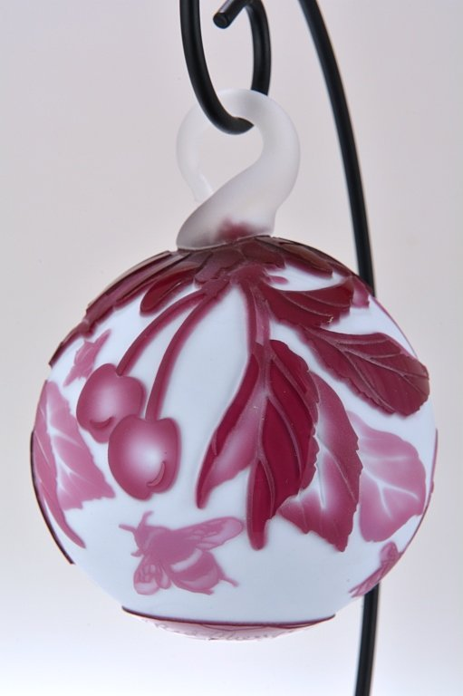 """Pilgrim Cameo Glass Ornament, """"Red Cherry"""", with S"""