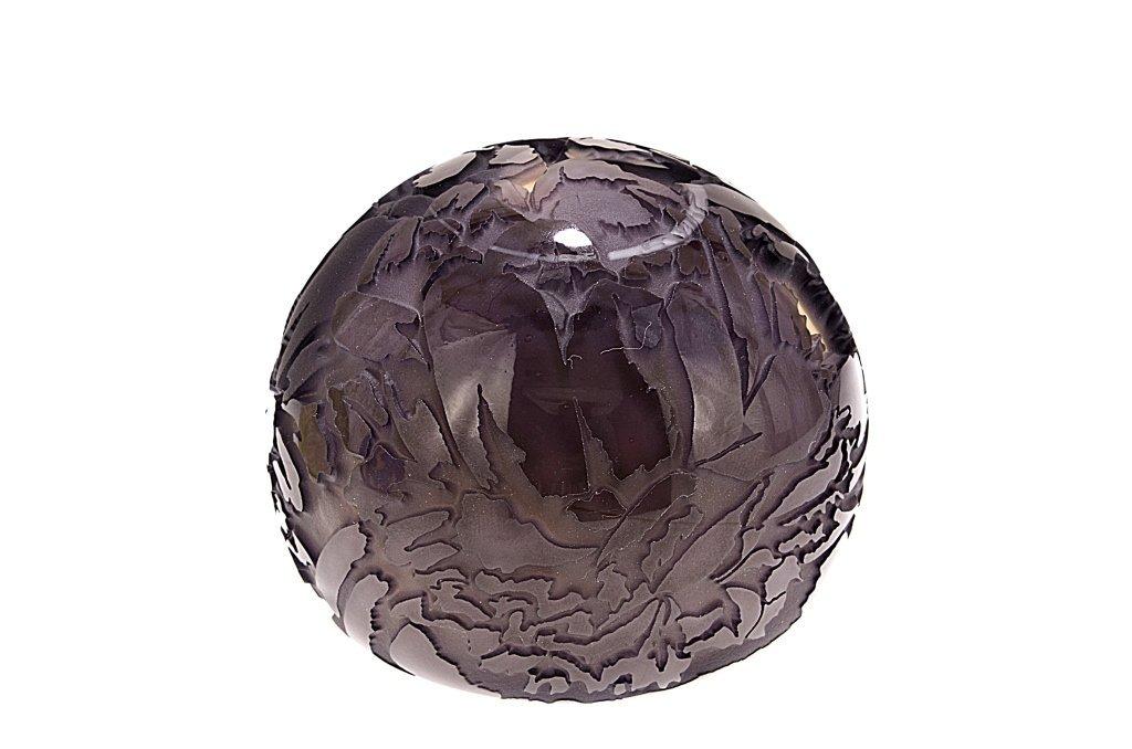 "Pilgrim Cameo Glass Paperweight, ""Grape Nectar"""