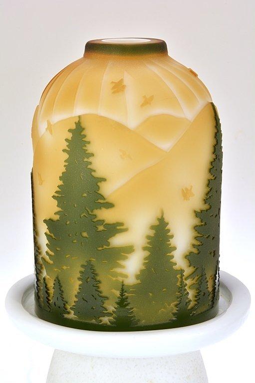 "Pilgrim Cameo Glass Fairy Light, ""Green Valley"""