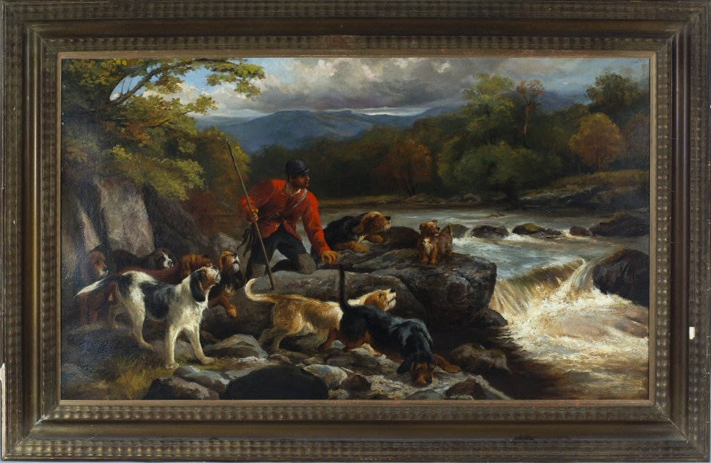 """""""The Otter Hunt"""" by John Sargent Noble"""