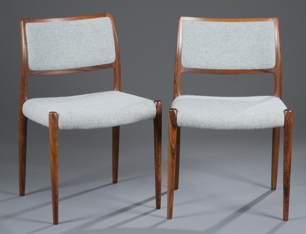 Six (6) J.L. Moller Rosewood Dining Chairs