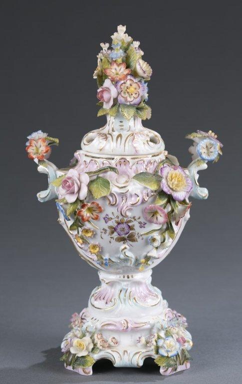 Italian Porcelain Miniature Urn