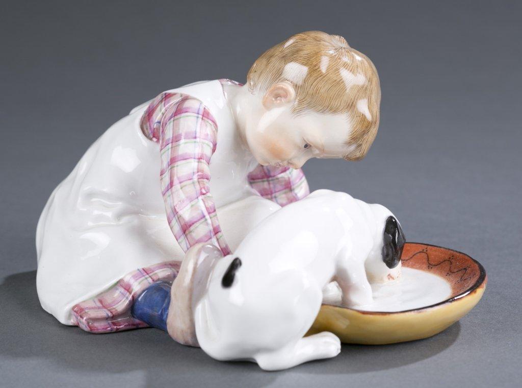 Meissen Porcelain Figure, Konrad Hentschel