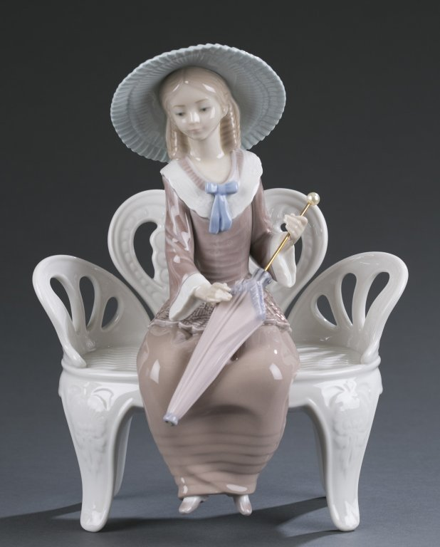 "Lladro ""Lady on Bench"" #1374"