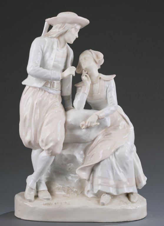 Porcelain Figural Group of Man & Woman