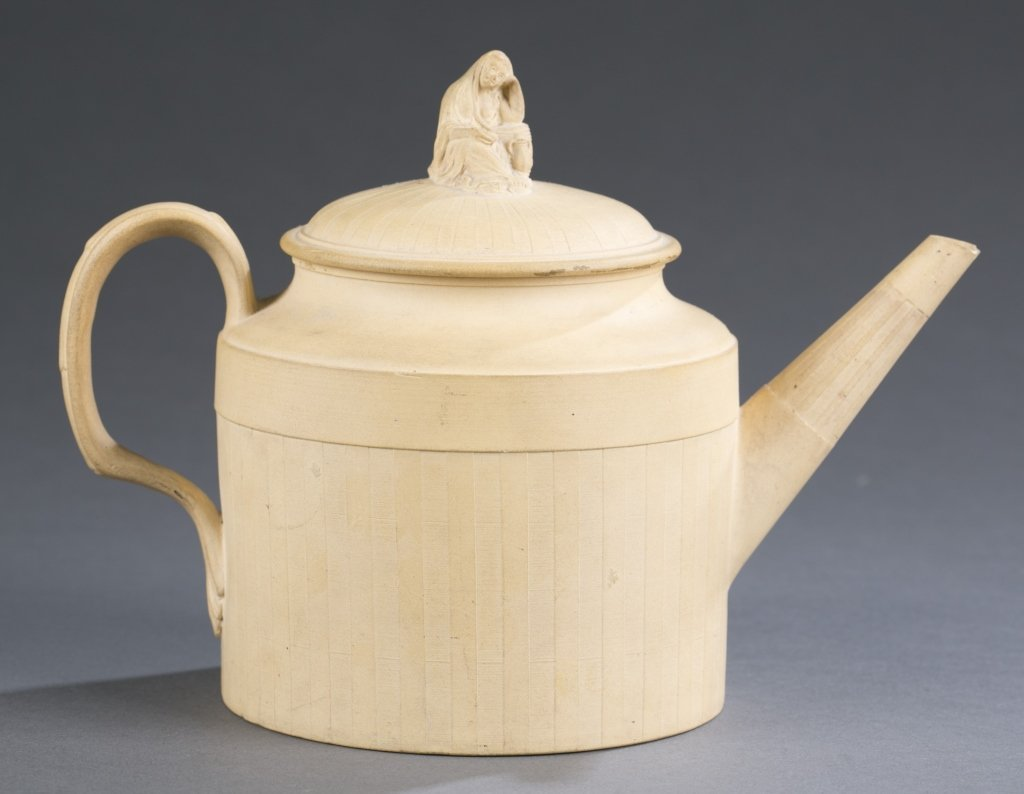 18th c. Wedgewood-Style Teapot with Lid